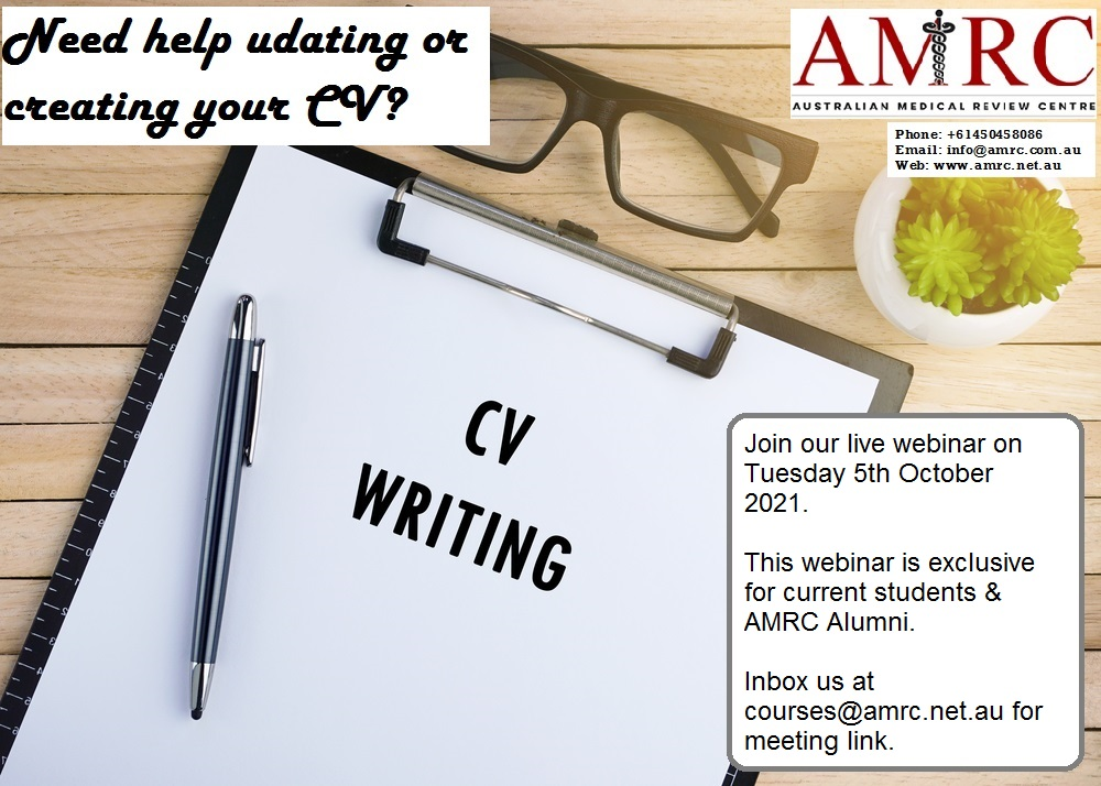 CV for IMGs in Australia
